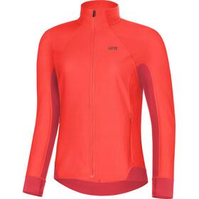 GORE WEAR R3 Partial Gore Windstopper Kurtka do biegania Kobiety czerwony